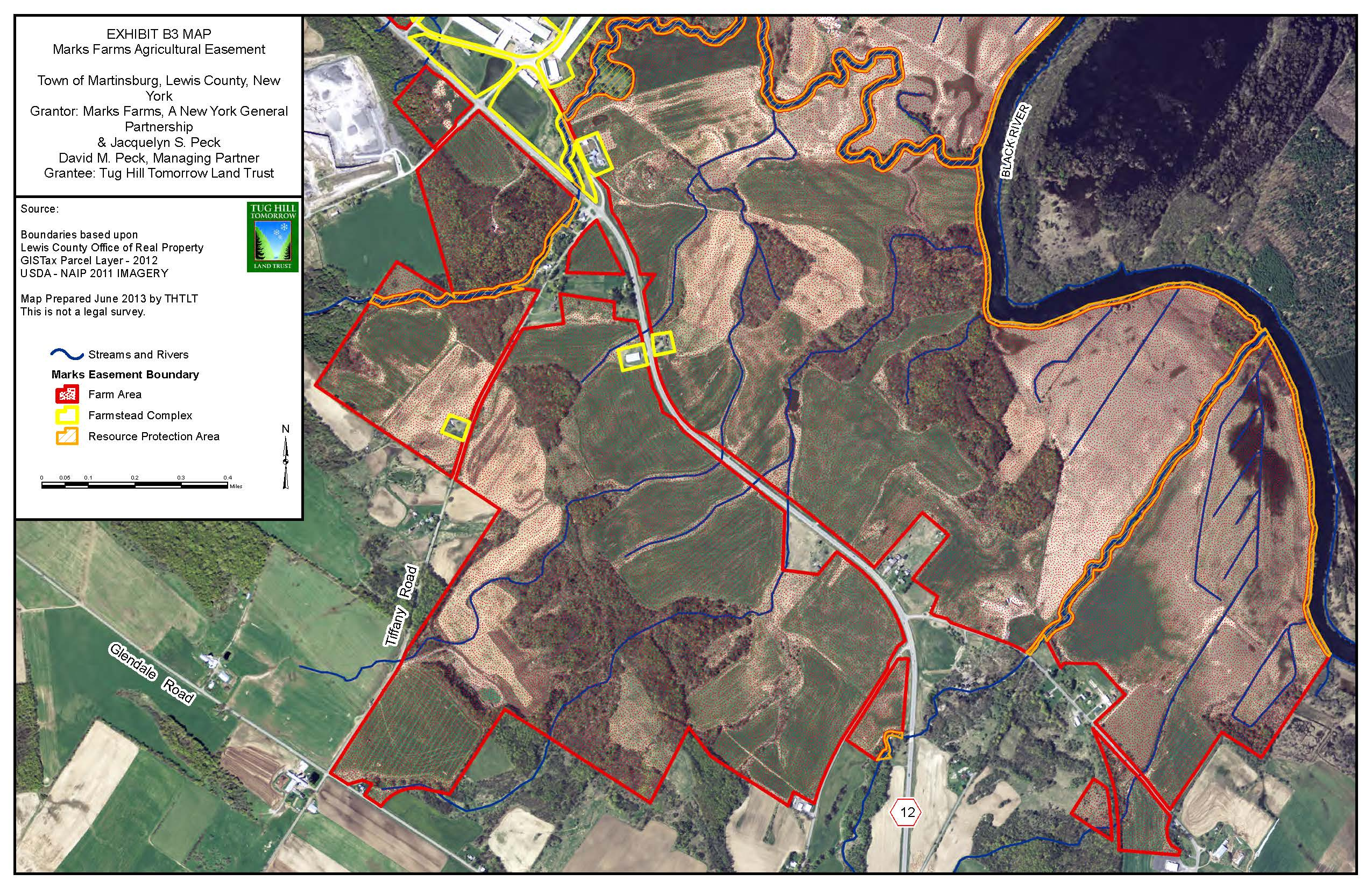 THTLT leverages datasets from County offices of Real Property Services to produce detailed easement boundary maps.
