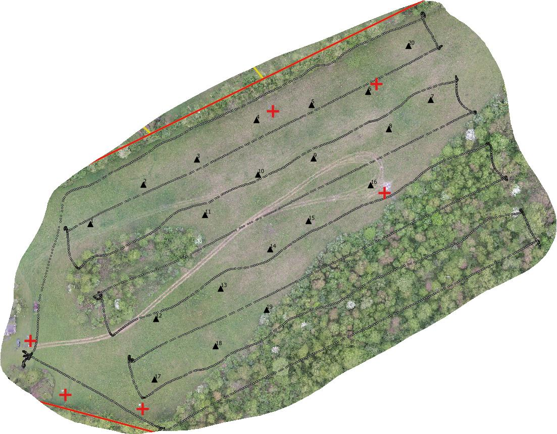 Typical UAV Flight Line Configuration Developing 3D Model