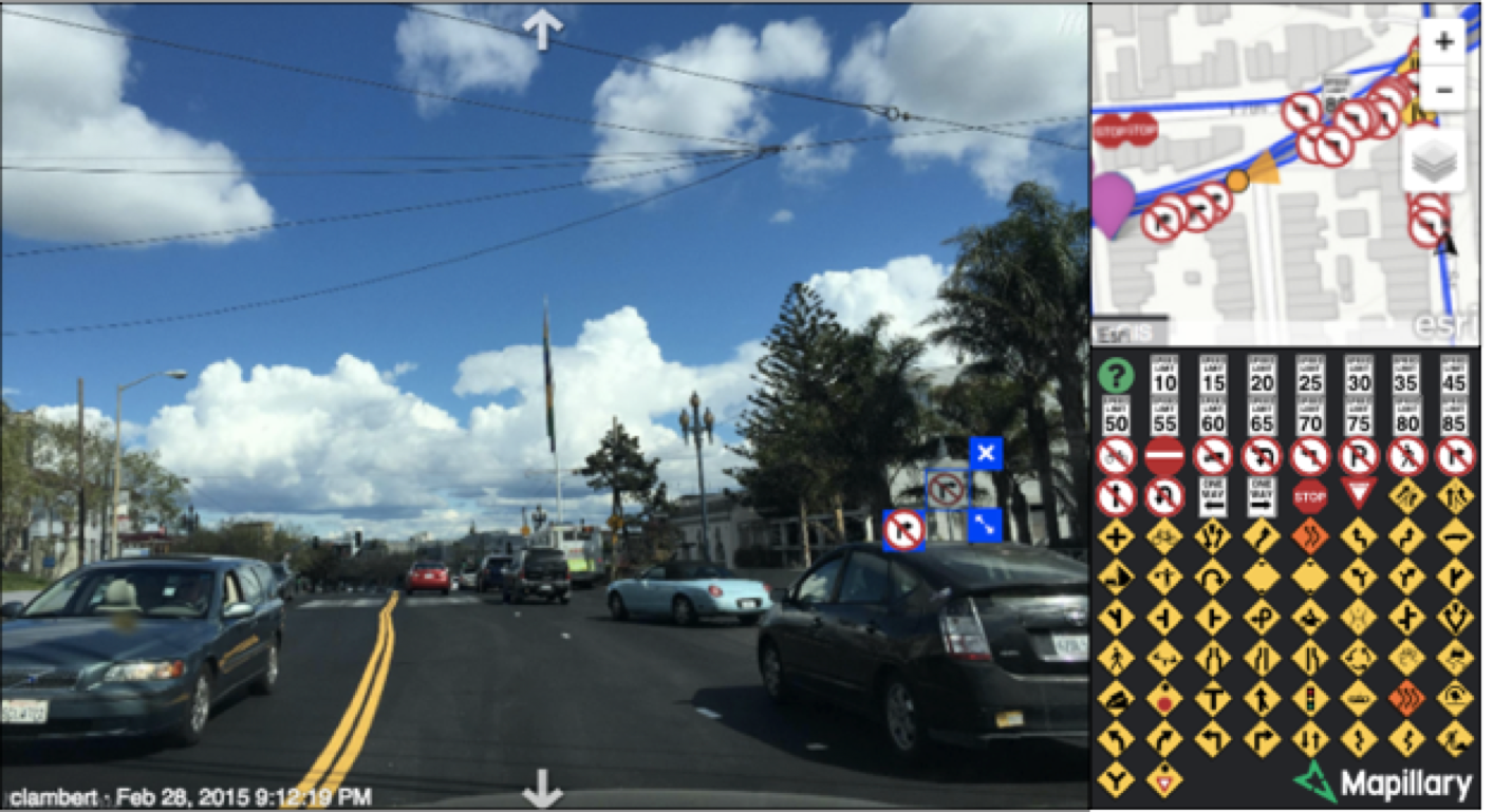 Mapillary uses computer vision to automatically detect traffic signs and extract geospatial data