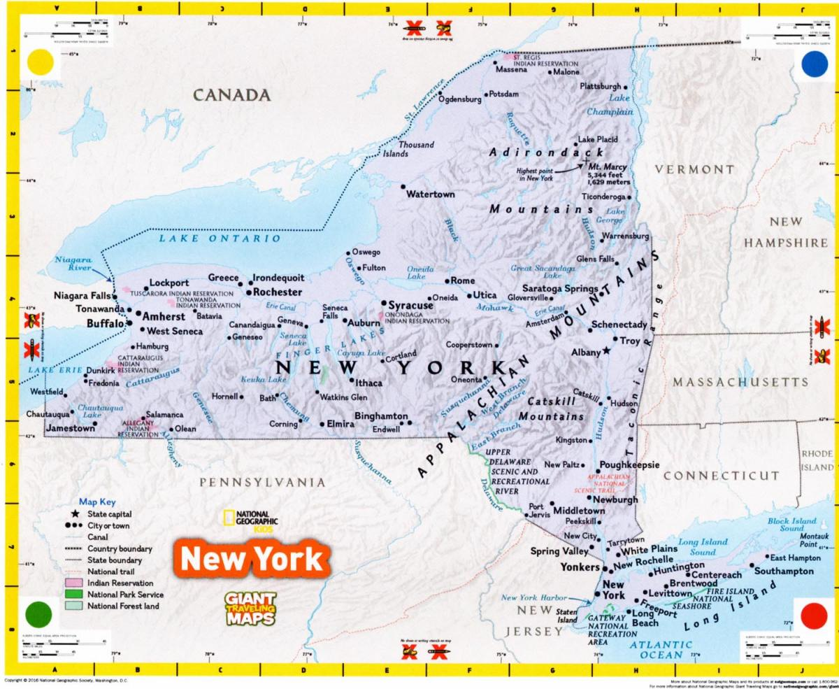 Best Map Of New York City.Best Of The Show New York Giant Traveling Map Espatially New York