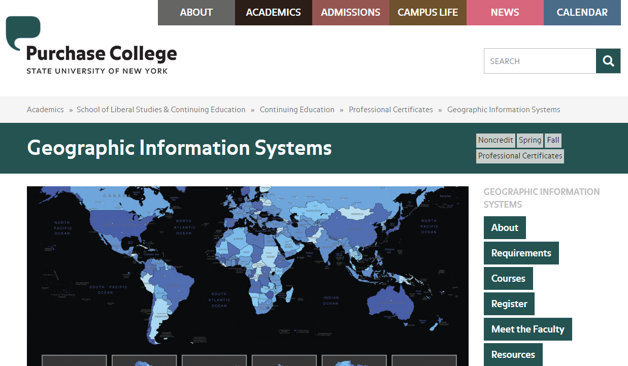 Purchase College Gis Certificate Program Espatially New York